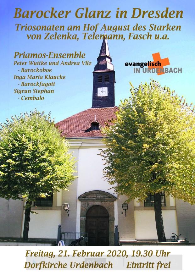 Konzert des Priamos-Ensemble in der Dorfkirche Urdenbach